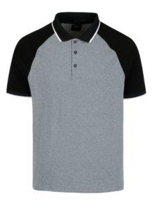 8eddbbd120b9 Čierno-sivá melírovaná polokošeľa Burton Menswear London
