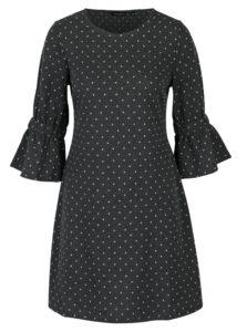 Tmavosivé bodkované šaty Dorothy Perkins