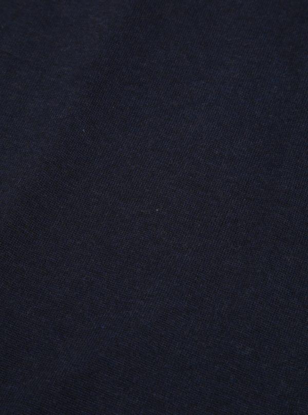 Tmavomodrý pánsky hodvábny šál Tommy Hilfiger
