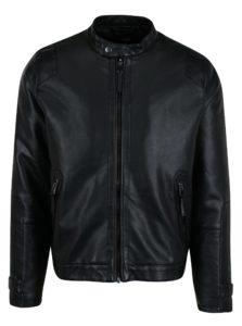 Čierna perforovaná koženková bunda Burton Menswear London
