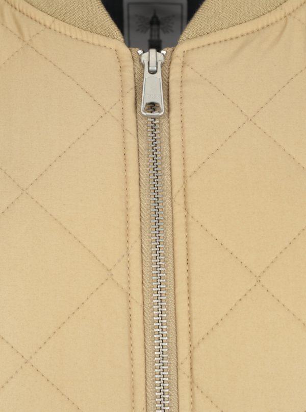 Béžová pánska prešívaná bunda Makia Quilted