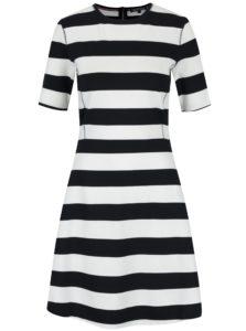 Čierno-krémové pruhované šaty Tommy Hilfiger