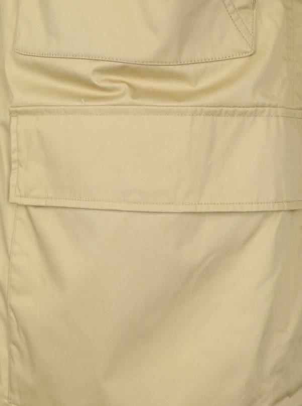 Béžová pánska bunda s kapucňou Makia Field