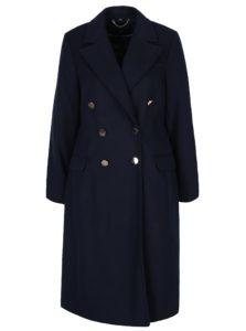 Tmavomodrý kabát s gombíkmi v zlatej farbe Dorothy Perkins