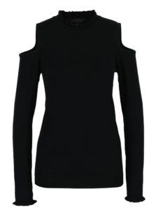 Čierny sveter s prestrihmi na ramenách Dorothy Perkins