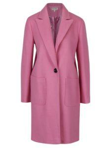 Ružový kabát s prímesou vlny Miss Selfridge