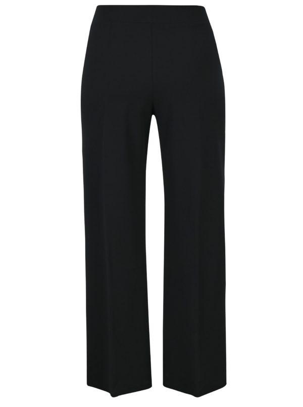 Čierne culottes nohavice s mašľou a vysokým pásom Miss Selfridge Petites