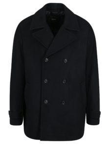 Tmavomodrý kabát s prímesou vlny Burton Menswear London