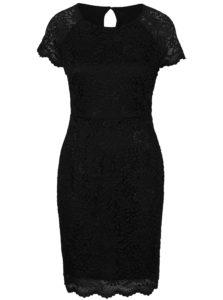 Čierne čipkované šaty s krátkym rukávom ONLY Shira