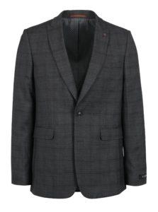 Sivé kockované oblekové skinny sako Burton Menswear London