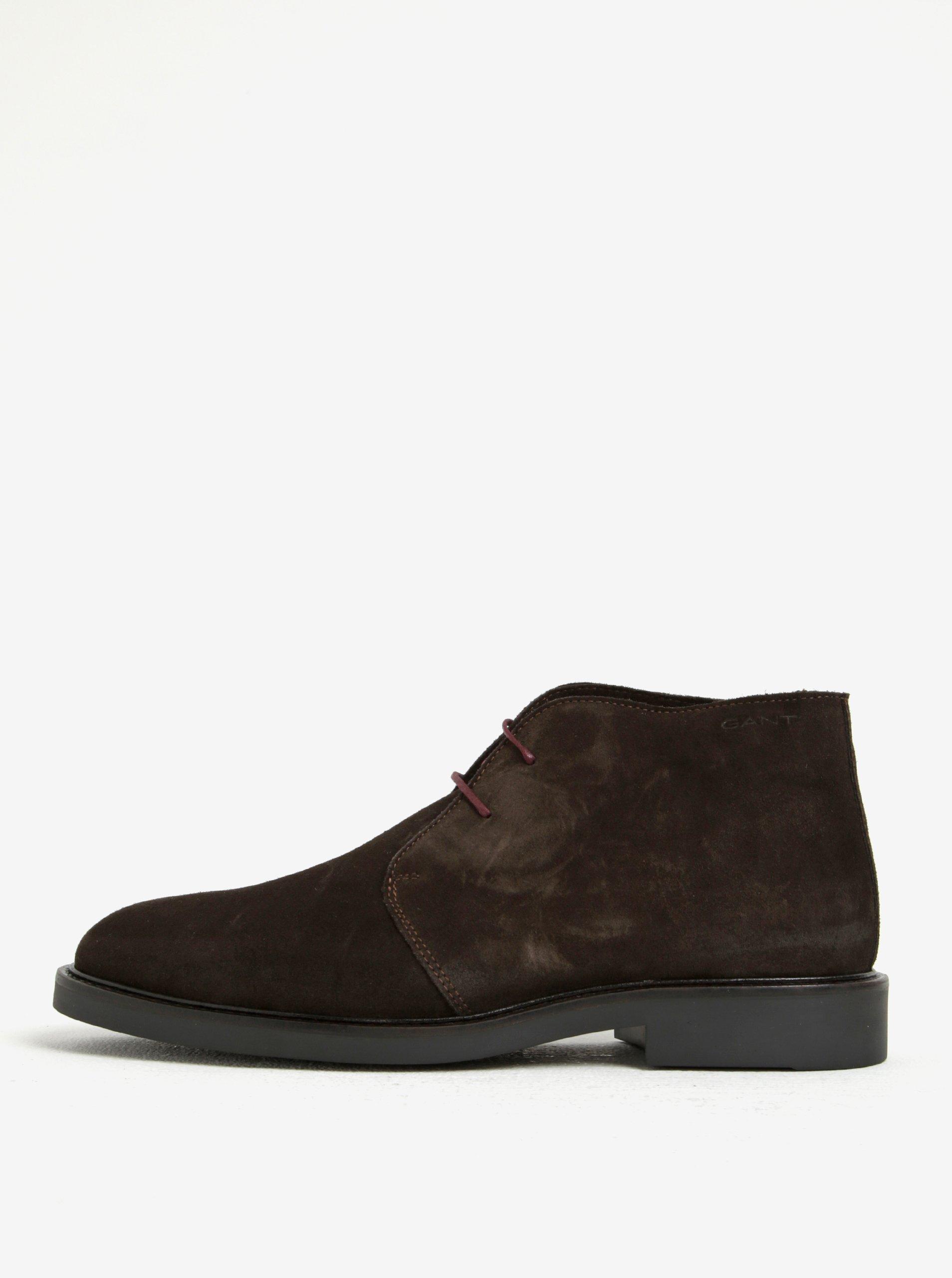 79667a972 Tmavohnedé pánske semišové členkové topánky GANT Spencer | Moda.sk