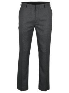 Sivé melírované oblekové slim fit nohavice Burton Menswear London