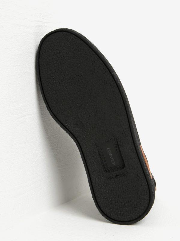 Čierne dámske zateplené semišové chelsea topánky GANT Maria