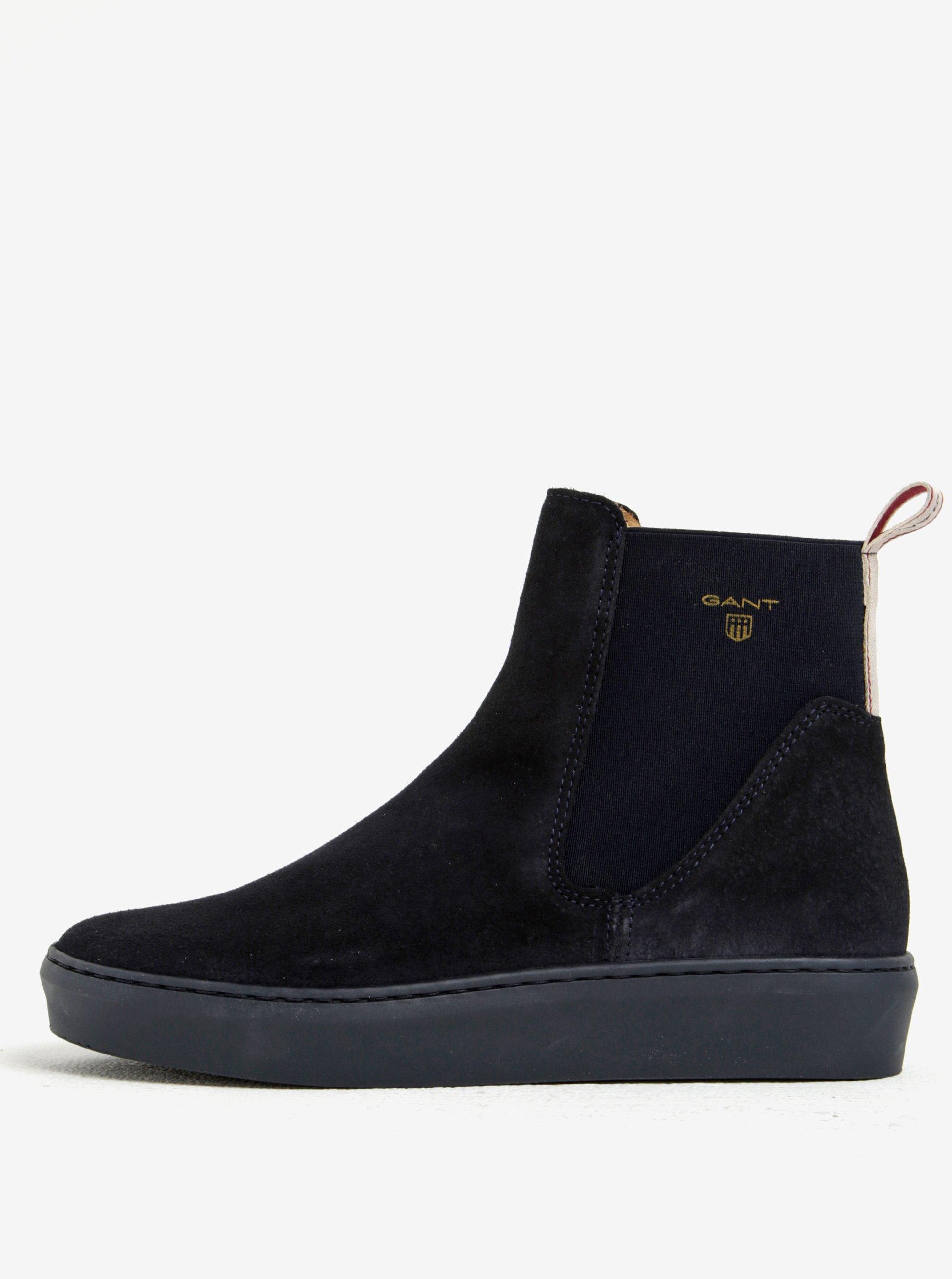 Tmavomodré dámske semišové chelsea topánky GANT Anne  293295800c1