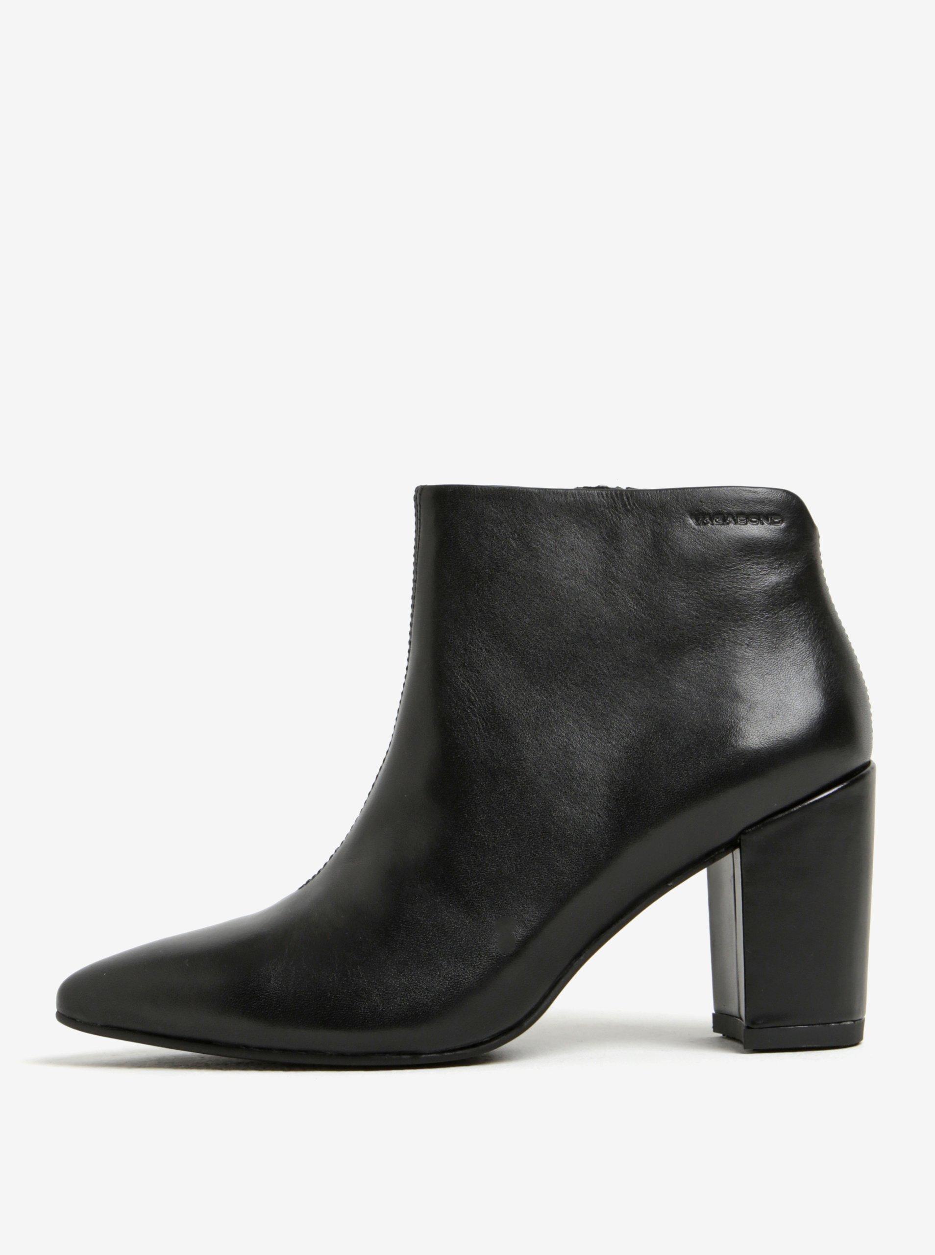 383862ab6981d Čierne dámske kožené členkové topánky Vagabond Saida | Moda.sk