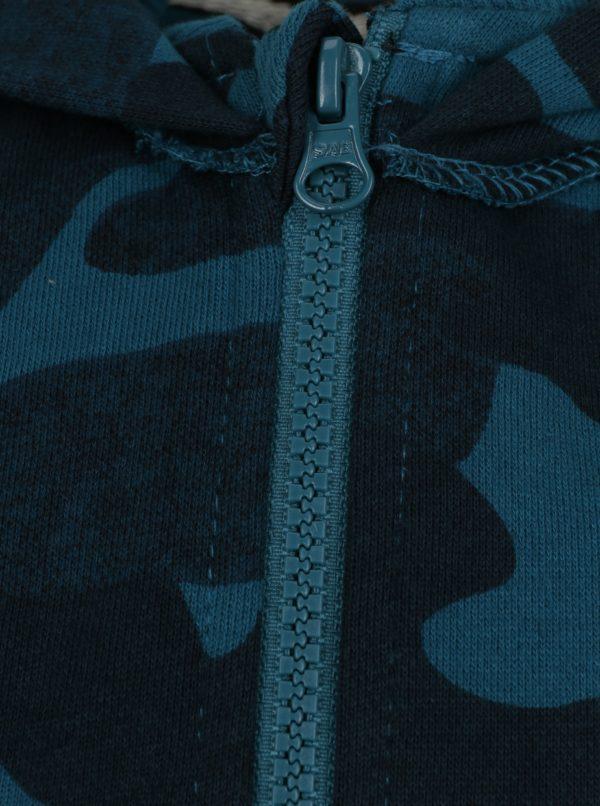 Modrá chlapčenská maskáčová mikina s kapucňou Name it Jason