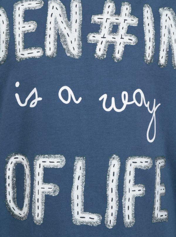 Modré chlapčenské tričko s potlačou Name it Kenim