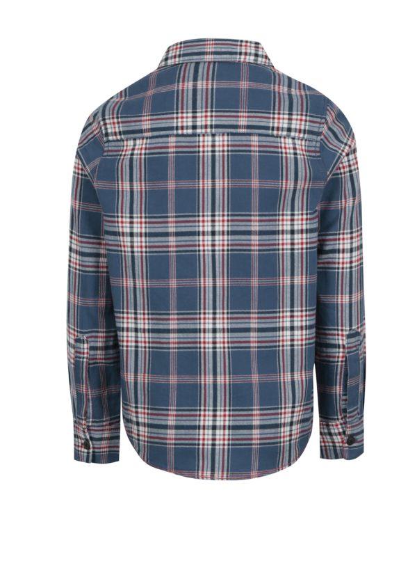 Modrá chlapčenská vzorovaná košeľa Name it Kohno