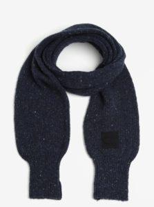 Tmavomodrý dámsky melírovaný vlnený šál Calvin Klein Jeans Eline