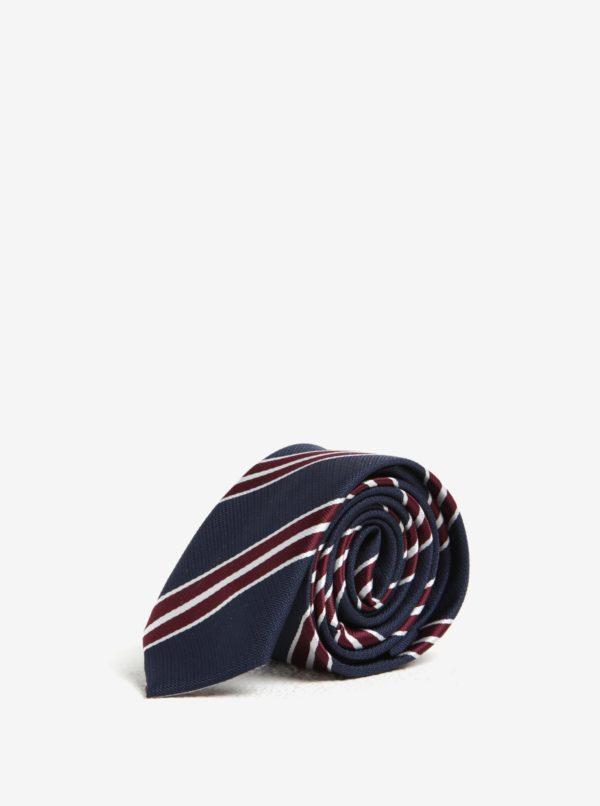 Modrá chlapčenská pruhovaná kravata Name it Pisp