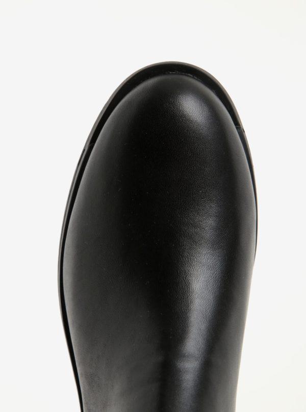 bbf29d3b50 Čierne dámske kožené nízke chelsea topánky Camper