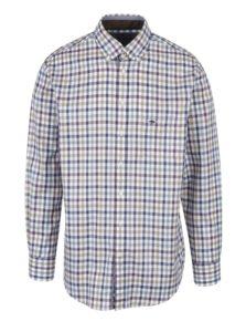 Fialovo-krémová károvaná košeľa Fynch-Hatton