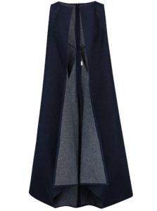Tmavomodrá dlhá rifľová vesta Bianca Popp