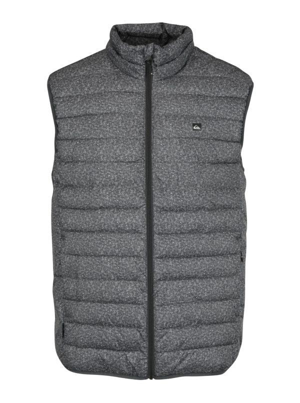Sivá pánska prešívaná vodovzdorná vesta Quiksilver