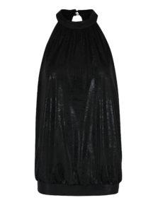 Čierny voľný lesklý top ONLY Kailee dc971a91ee1