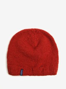 Tehlová vlnená pletená čiapka Tranquillo Oda