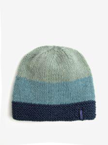 Zeleno-modrá vlnená pruhovaná čiapka Tranquillo Maia