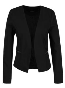 Čierne sako s falošnými vreckami VERO MODA Thea