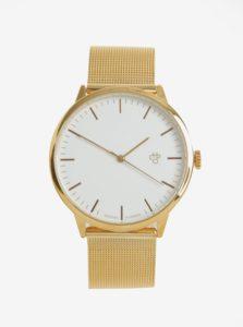 Unisex hodinky v zlatej farbe s remienkom z nehrdzavejúcej ocele CHPO Nando