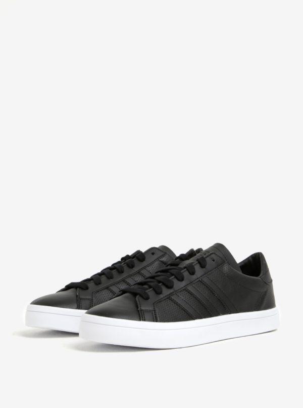Čierne pánske kožené tenisky adidas Originals Courtvantage  9c7549073d9