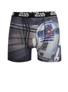 Čierno-sivé pánske boxerky s potlačou Star Wars