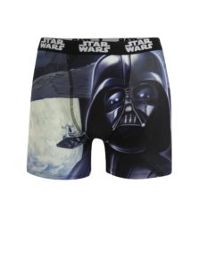 Modro-čierne pánske boxerky s potlačou Star Wars