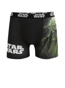 Zeleno-čierne pánske boxerky s potlačou Star Wars