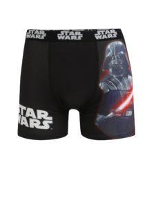 Červeno-čierne pánske boxerky s potlačou Star Wars