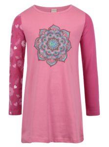 Ružové dievčenské šaty s dlhým rukávom Venere