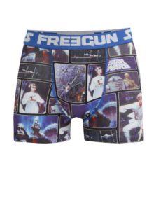 Modré pánske boxerky s potlačou Star Wars Freegun