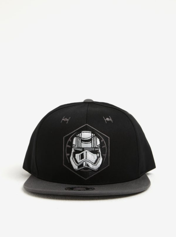 Čierna pánska šiltovka s výšivkou Star Wars