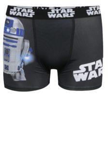 Modro-čierne chlapčenské boxerky s potlačou Star Wars