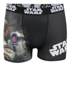 Čierne chlapčenské boxerky s potlačou Star Wars