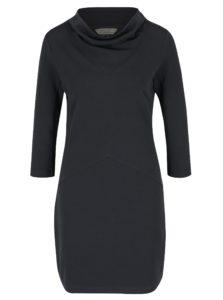 Tmavosivé šaty s vysokým golierom Skunkfunk