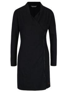 Čierne zavinovacie šaty na zips Skunkfunk