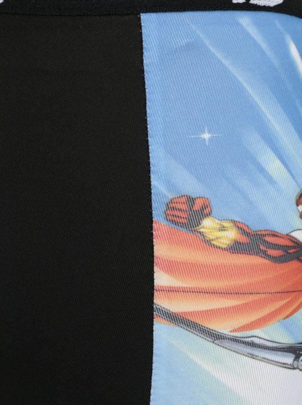 Čierno-modré chlapčenské boxerky s potlačou Avengers