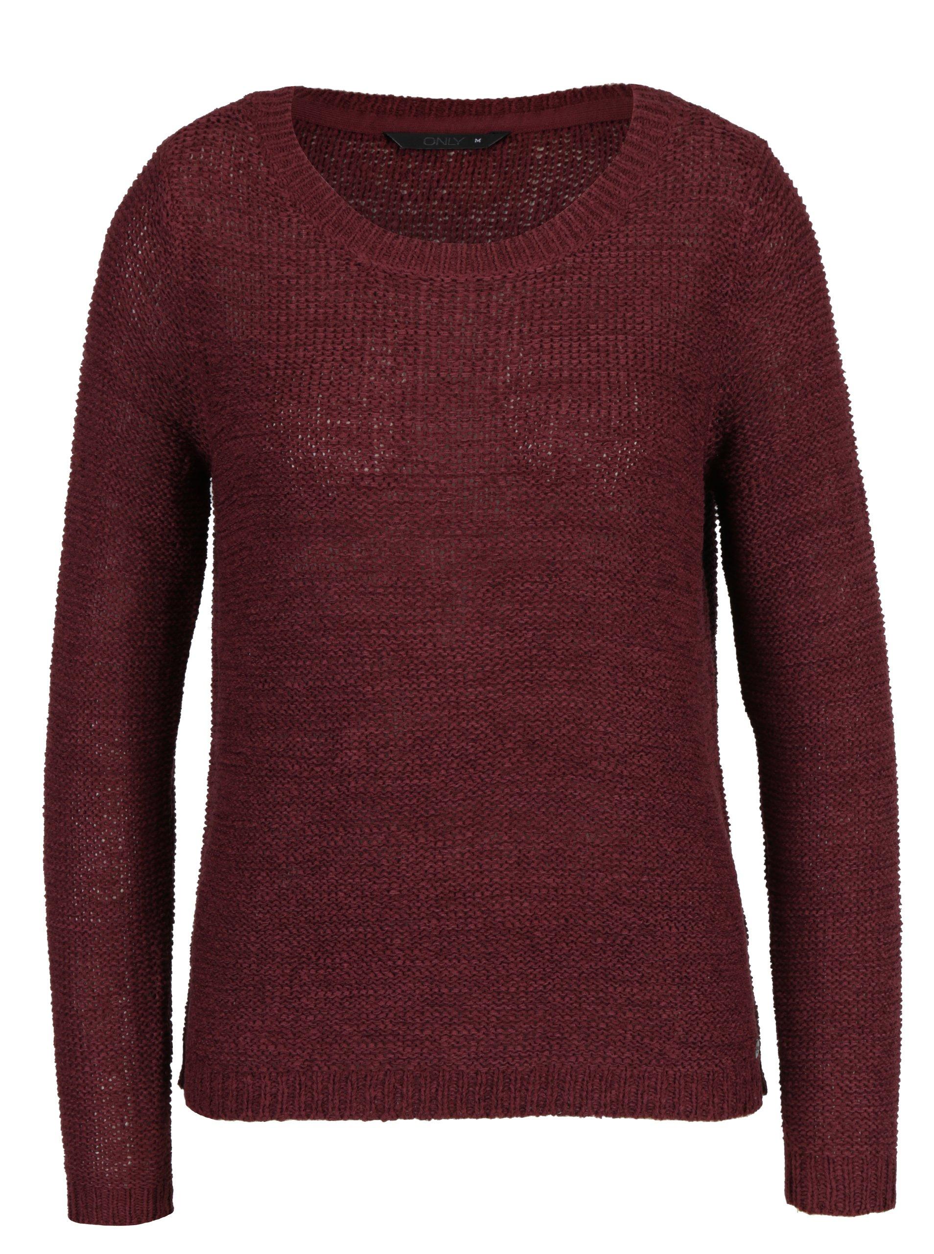 a0b903b0e50d Vínový sveter ONLY Geena