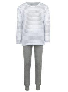 Sivo–biele dievčenské pyžamo name it Night