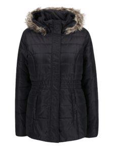 Čierno-sivá dámska zimná vodoodpudivá prešívaná bunda s kapucňou LOAP Tamda