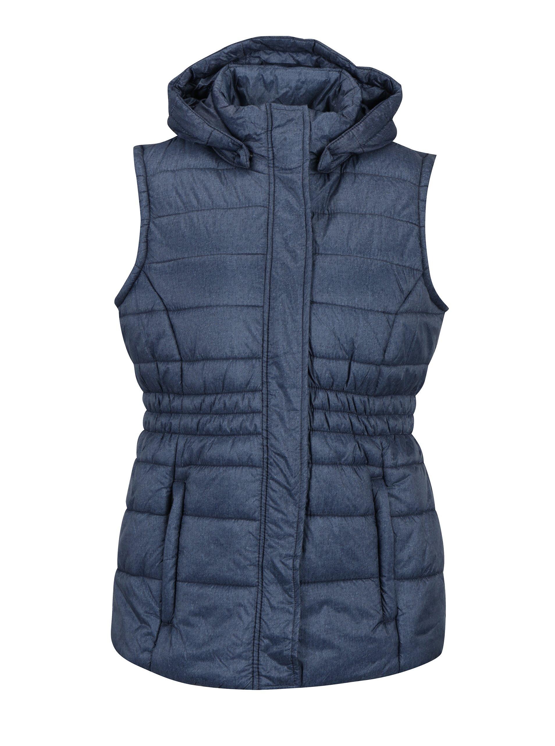 Modrá dámska vodoodpudivá prešívaná vesta LOAP Tanya  fff0ee19442